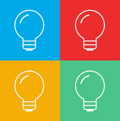 Lightbulb Ideas Creativity Development Icon Symbol Vector Concep