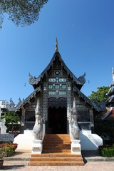 Wat Chedi Luang temple in Chiang Mai, Thailand