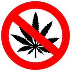 No marihuana sign