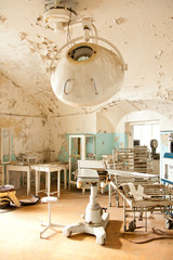 Old abandoned hospital interior