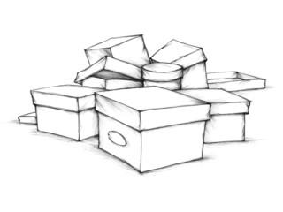 Unsortierte Schachteln