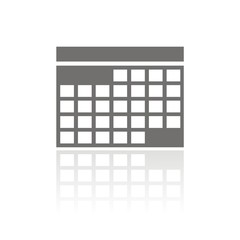 Icono calendario FB reflejo