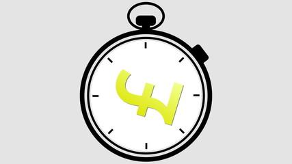 Stopwatch British Pound Symbol