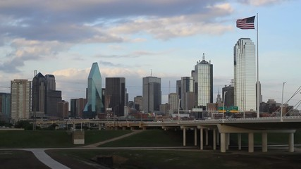 Evening View of Dallas Skyline