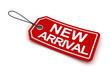 New arrival tag, 3d render
