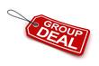 Group deal tag, 3d render
