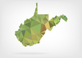 Low Poly map of West Virginia state
