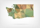 Low Poly map of Washington state