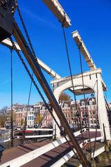 traditionelle Klappbrücke in Amsterdam, Niederlande