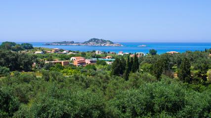 Forest, village and sea - Corfu, Greece