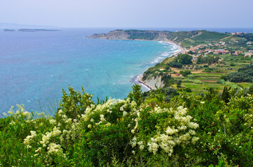 Arillas on Corfu island, Greece
