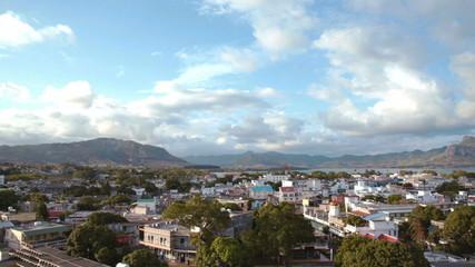 aerial of mahebourg mauritius