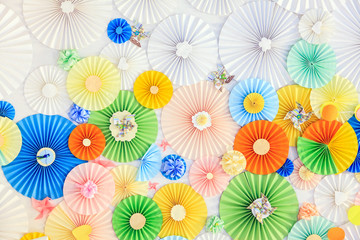 Background with paper circles