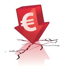 chute de l'euro