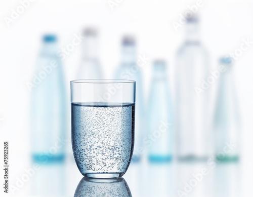 Papiers peints Eau Glas Mineralwasser