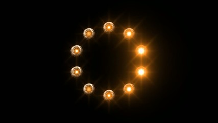 light loading wheel - 30fps spinning loop - orange lights