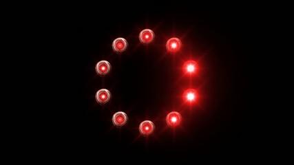 light loading wheel - 30fps spinning loop - red lights