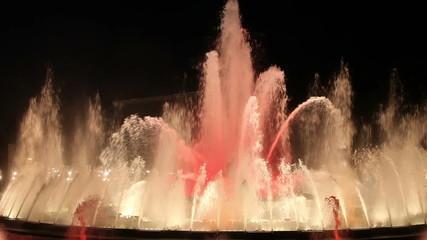 Magic Fountain in Barcelona at Night