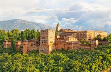 ancient arabic fortress of Alhambra, Granada, Spain