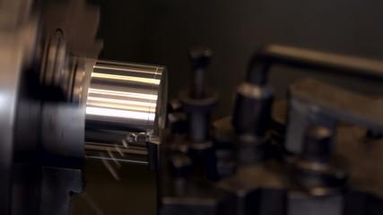 Engineering machine in metal workshop