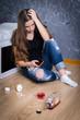 Teenager after break up
