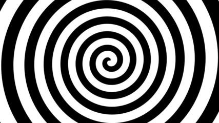 rotating black and white swirl pattern