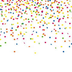 Vector Illustration of a Colorful Party Background with Confetti
