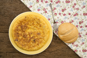 Omelette and bread