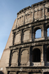 Italy - Colosseum, elliptical Flavian amphitheatre