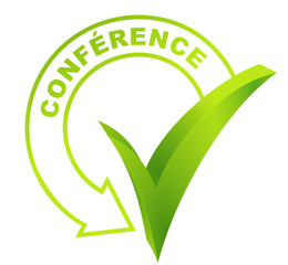 conférence sur symbole validé vert