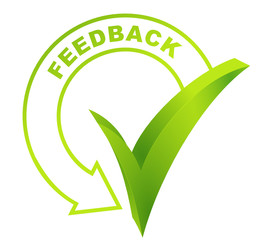 feedback symbol validated green