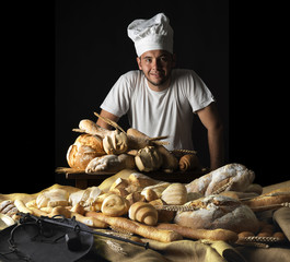 baker with his bread