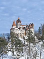 Bran Castle - Dracula`s Castle in winter