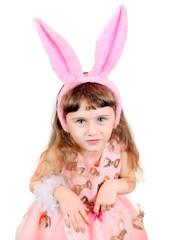 Little Girl with Bunny Ears