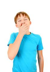 Teenager yawn