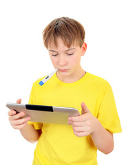 Sick Kid with Tablet
