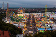 View of the Oktoberfest in Munich at night. - 75927002