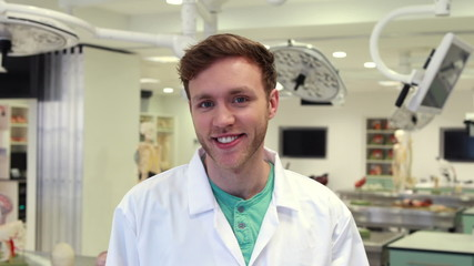 Medical student smiling at the camera