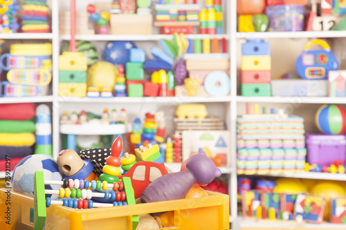 box with toys - 75928297
