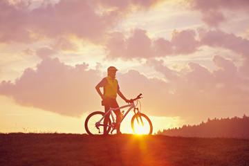 Morgenstimmung und Biker
