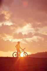 Biker in Morgenstimmung