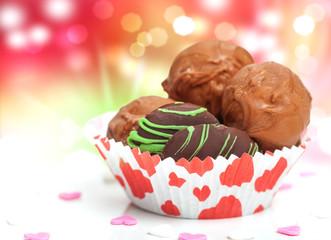 Konfekt, Pralinen zum Valentinstag