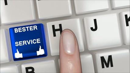 Service Keyboard blue