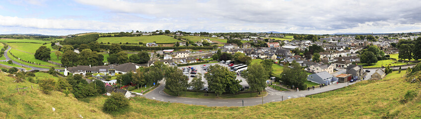 Panorama of Cashel in Ireland.