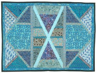 colorful patchwork, textile , Jaipur, Rajasthan, India
