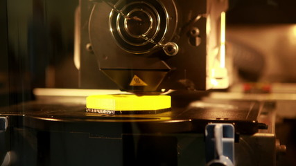 3d printer printing an object
