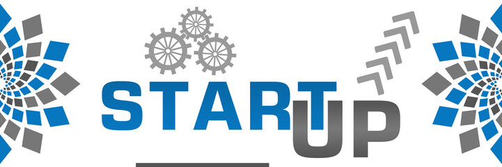 Start Up Blue Grey Elements