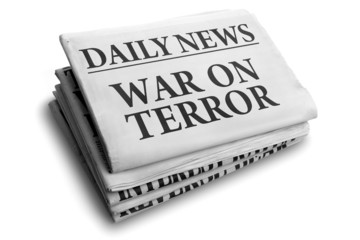 War on terror daily newspaper headline