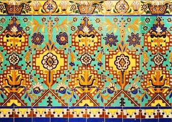 Decorative tile, background