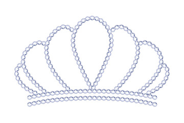 Symple style silver tiara with diamonds.